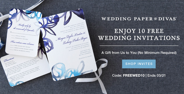 Wedding Paper Divas 10 Free Invitations Offer