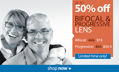 50% off Giftcards & Sale on Bifocal & Progressive Lenses