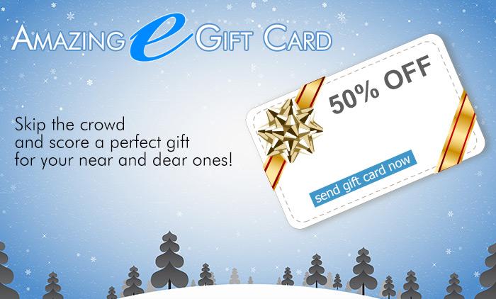 50% off Giftcards & Sale on Bifocal & Progressive Lenses