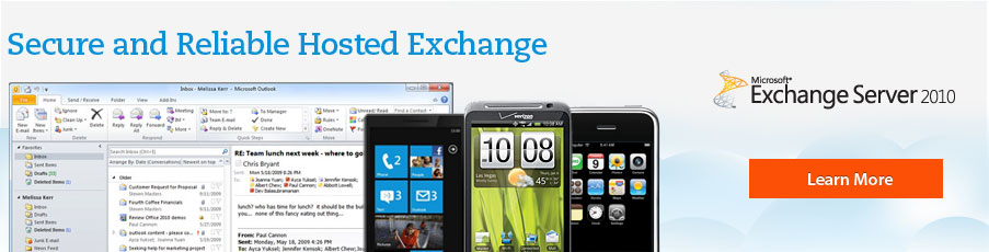 Hosted Exchange 2010 - Exchange Hosting Provider - Microsoft Exchange Server 2010 & 2007 - Dedicated & Shared Exchange 2010 Hosting - just $5.95 /user/mo.
