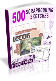 500 Scrapbooking Sketches -  Only $28.77 USD