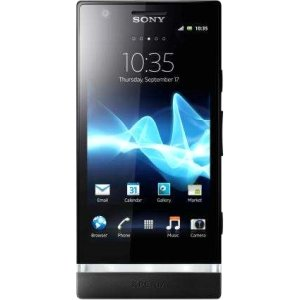 Sony Xperia P LT22i-BK Unlocked Phone with 8 MP Camera, Android 2.3 OS, Dual-Core Processor, and 4-Inch Touchscreen - Save: 41%