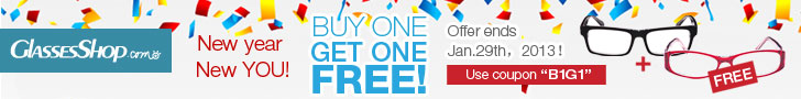 BUY ONE GET ONE FREE Site Wide from GlassesShop