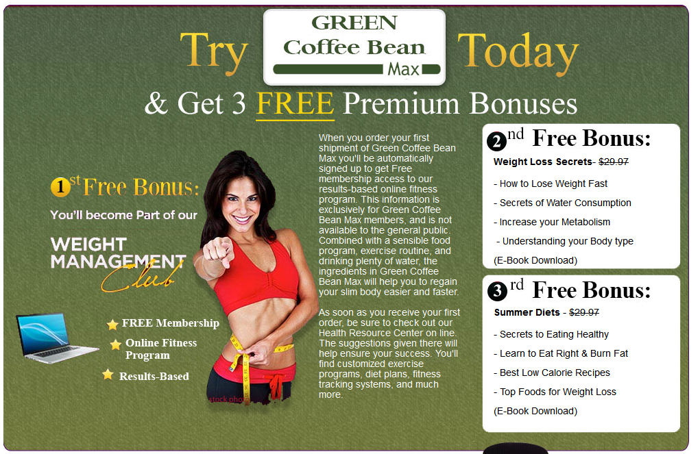 Green Coffee Bean Max - Weight Loss Products - Save $40 - 1 FREE