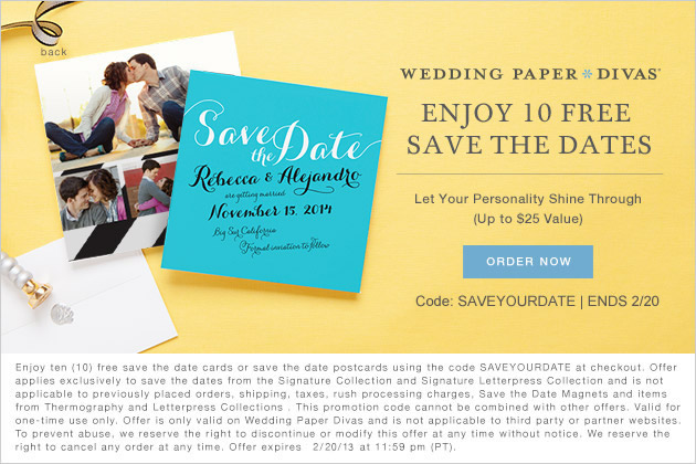 Wedding Paper Divas - Free Save the Date Cards