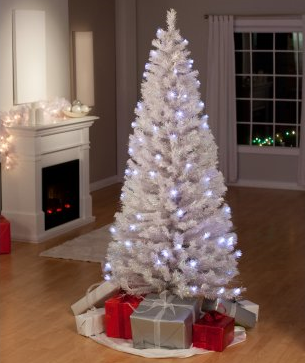 Christmas Trees Galore – White Clover Medium Fiber Optic Pre-Lit Christmas Tree - Save up to 33%