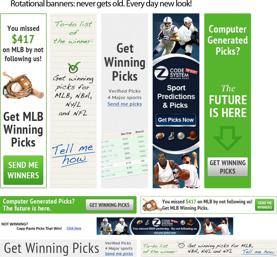 Z-Code System Winning picks and predictions for MLB baseball, NHL hockey, NBA basketball and NFL football - VIP members -  $198 / month